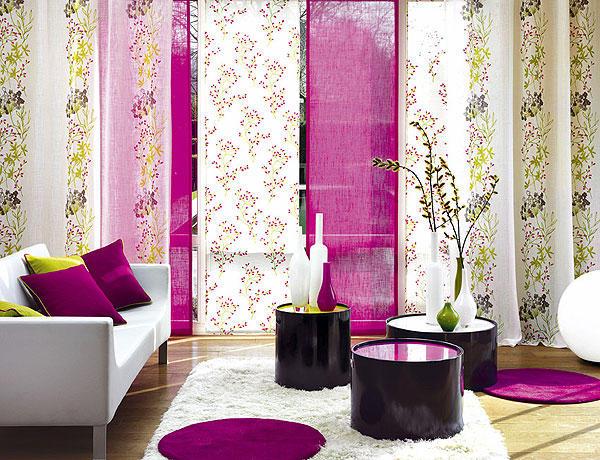 яркие японские шторы-панели