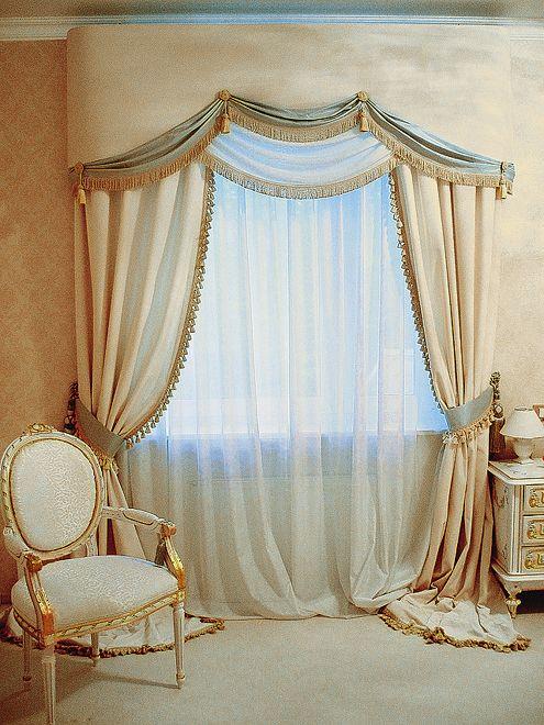 фото жесткого ламбрекена для спальни