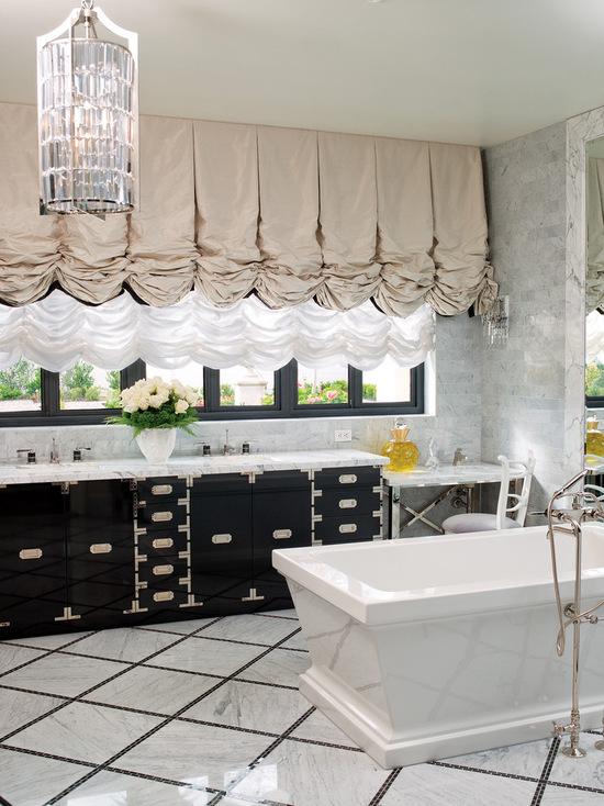 фото австрийских штор в ванной
