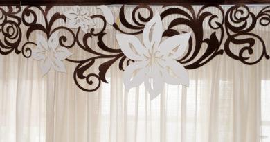 фото ажурного ламбрекена для штор