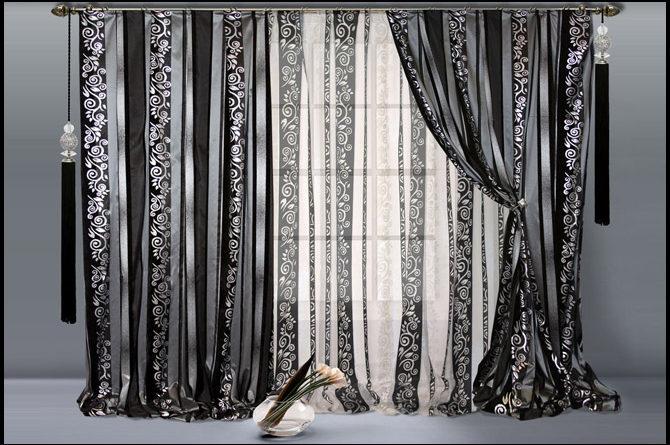 фото черного тюля