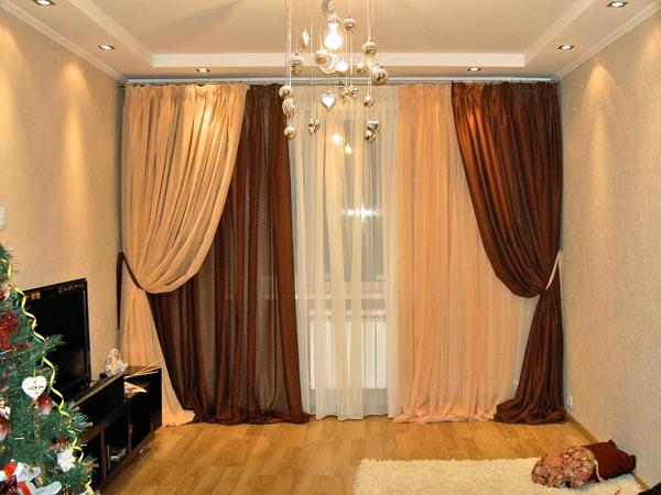фото комбинированных штор