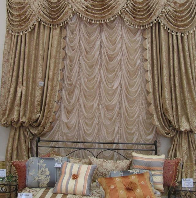 французские шторы и портьеры с ламбрекенами