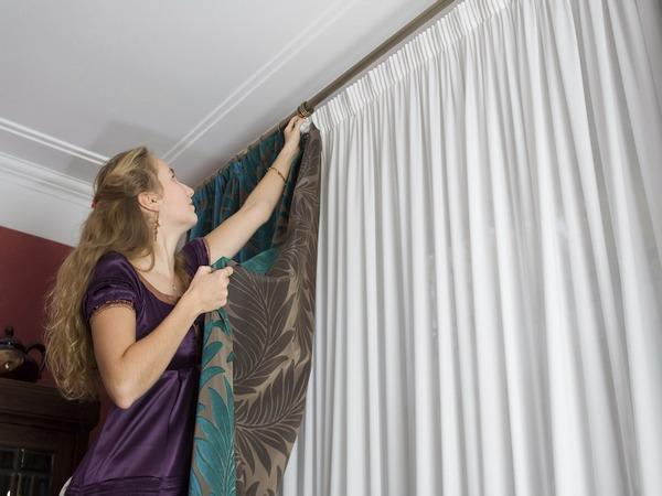 как красиво повесть шторы и гардины на окно