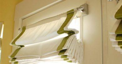как крепить римскую штору