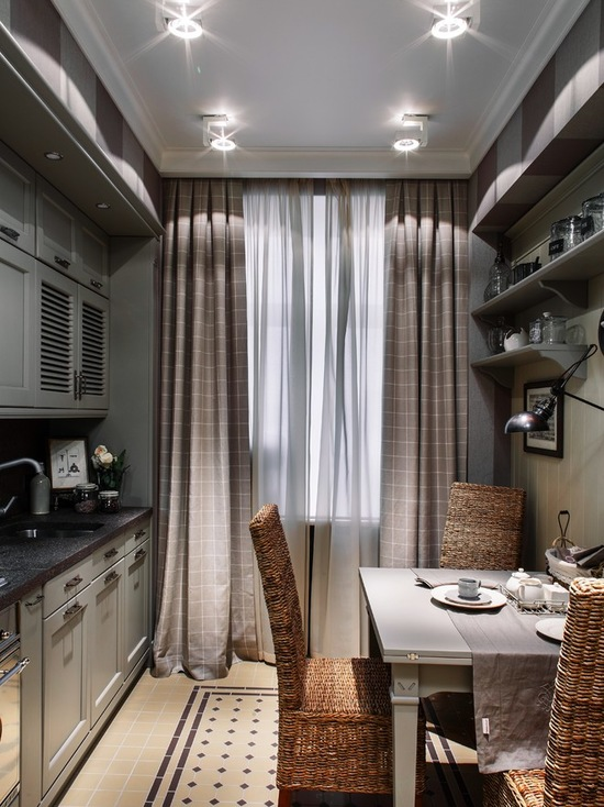 портьеры в класическом стиле для кухни