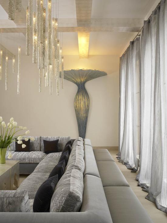 шторы в гостиную из легкой ткани