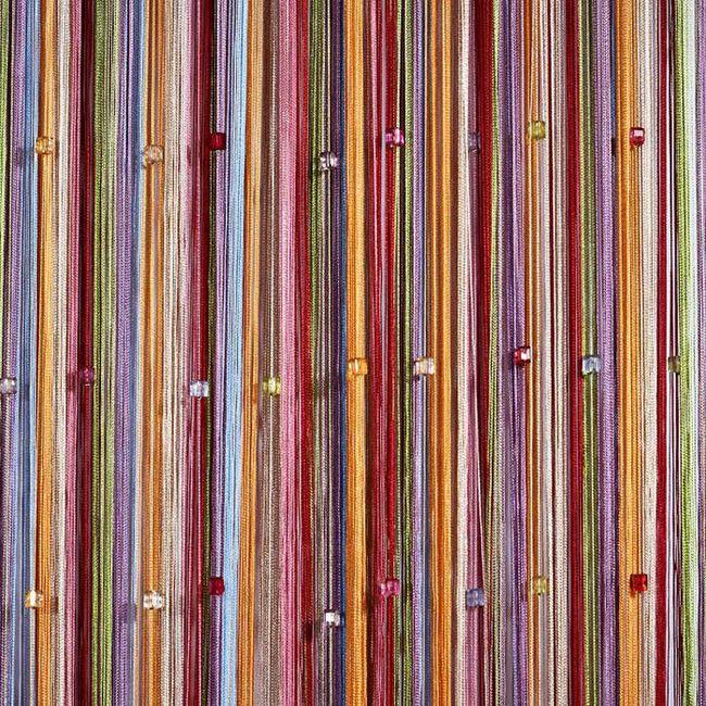 фото кисеи радуга с бусинами