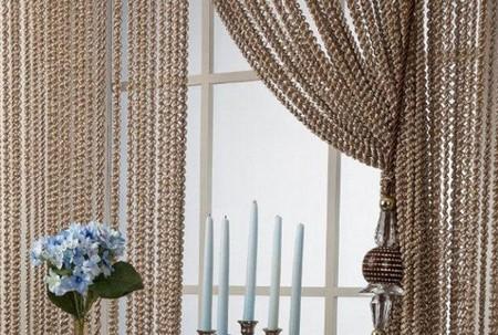 Как сделать шторы нитями 558