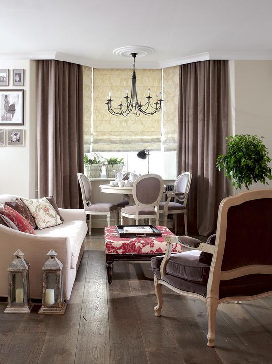 шторы в классическом стиле в гостиной