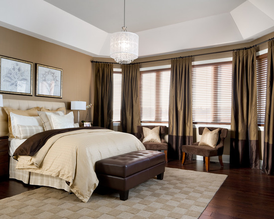 ортьера для спальни из ткани двух тонов