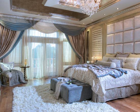 фото пртьер с ламбрекенами в спальне
