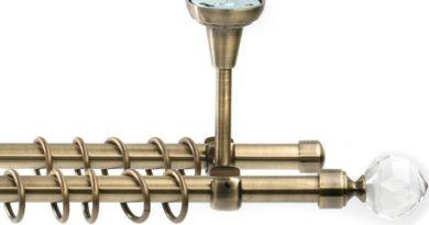 фото потолочного двухрядного карниза из металла