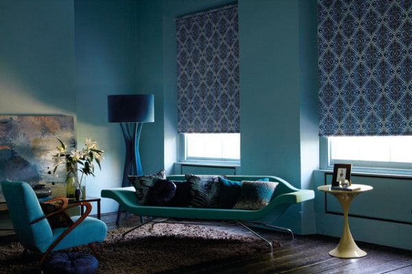 рулонные шторы в жилом интерьере