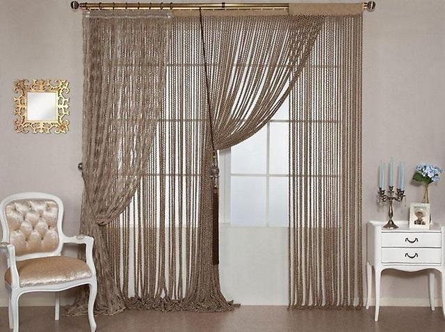 фото штор кисея в гостиной