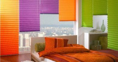 фото гофрированной шторы плиссе