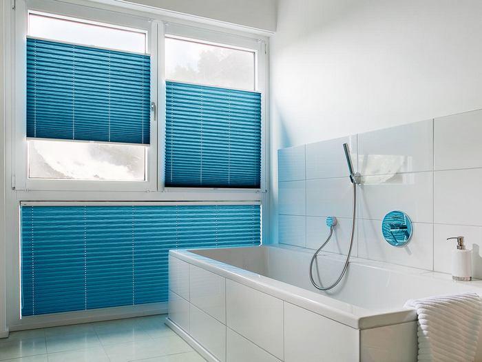 фото жалюзи плиссе в ванной комнате