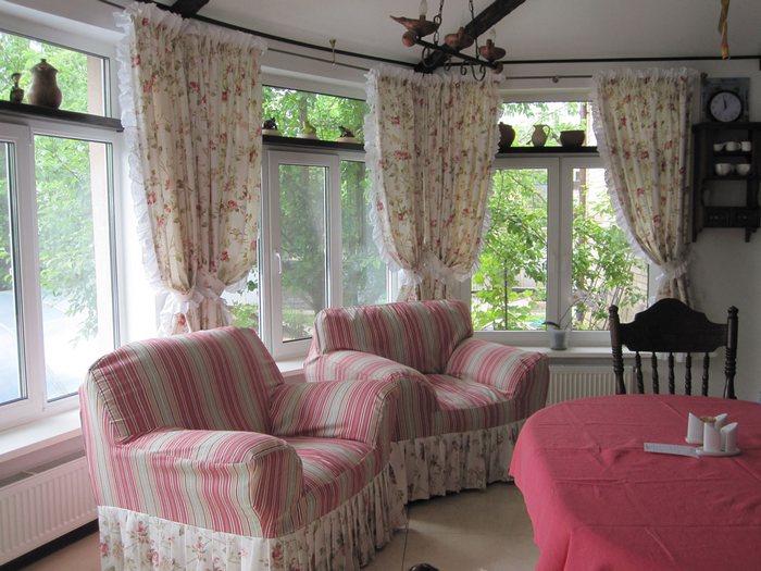 фото деревенских штор в столовой