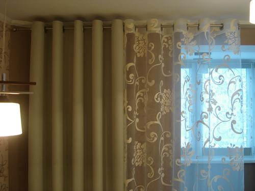 фото портьеры в гостиную и тюля из органзы