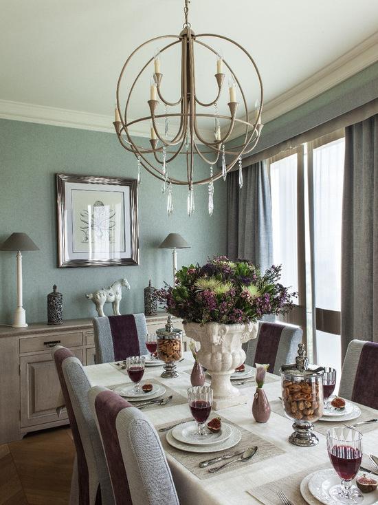 фото штор для гостиной-столовой
