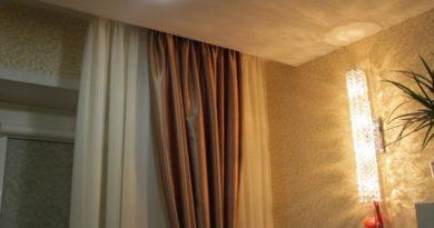 фото штор на скрытом карнизе