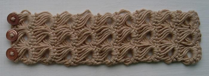 фото техники вязания крючком брумстик