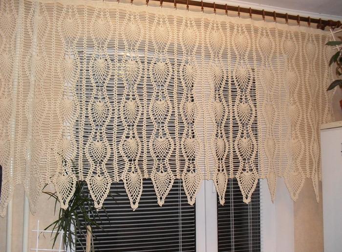 вязаные шторы основы дизайна и техники вязания крючком