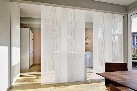 фото японских штор вместо дверей