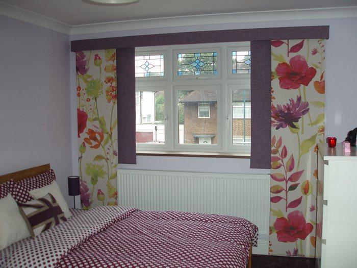 фото японских штор для окон в спальне
