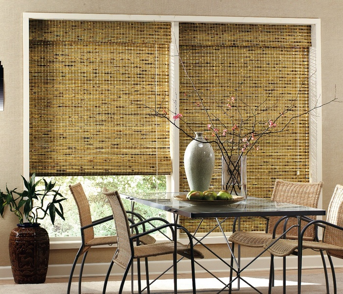 фото бамбуковых жалюзи в интерьере