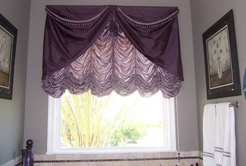французские шторы с драпировкой