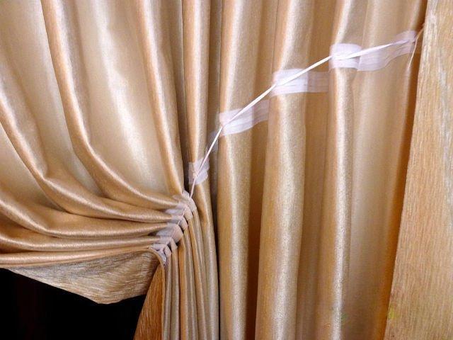 как задрапировать шторы с помощью шторной ленты