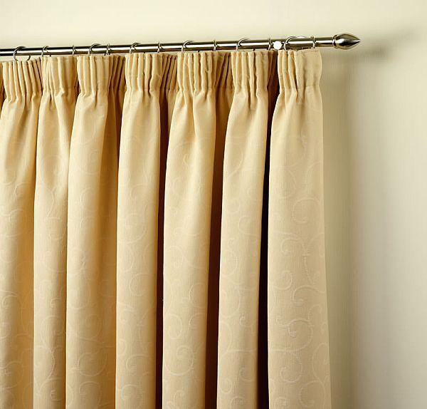 способ повесить шторы на ленте мелкими складками