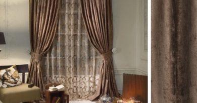фото штор коричневого цвета