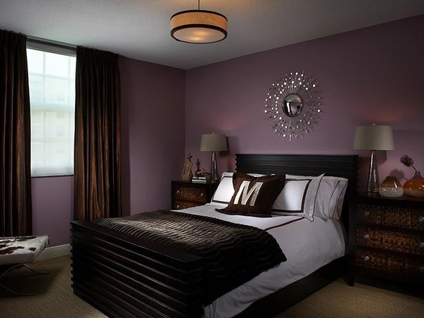фото штор цвета какао в спальне