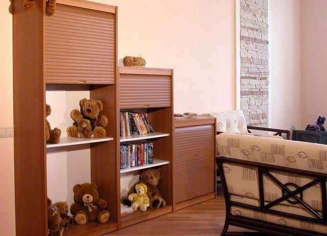 деревянные мебельные жалюзи в детской