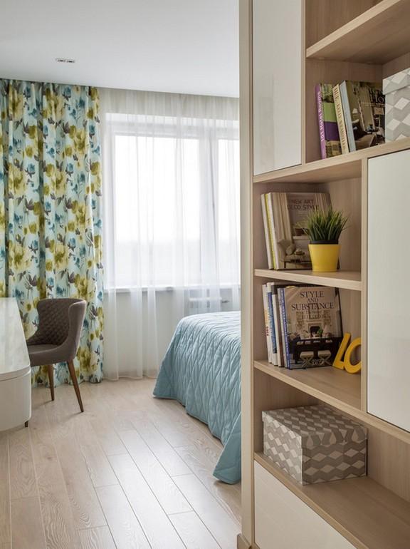 шторы с принтом для современной спальни
