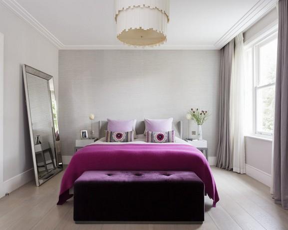 шторы для современной спальни