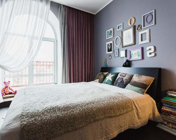 шторы и тюль для современной спальни