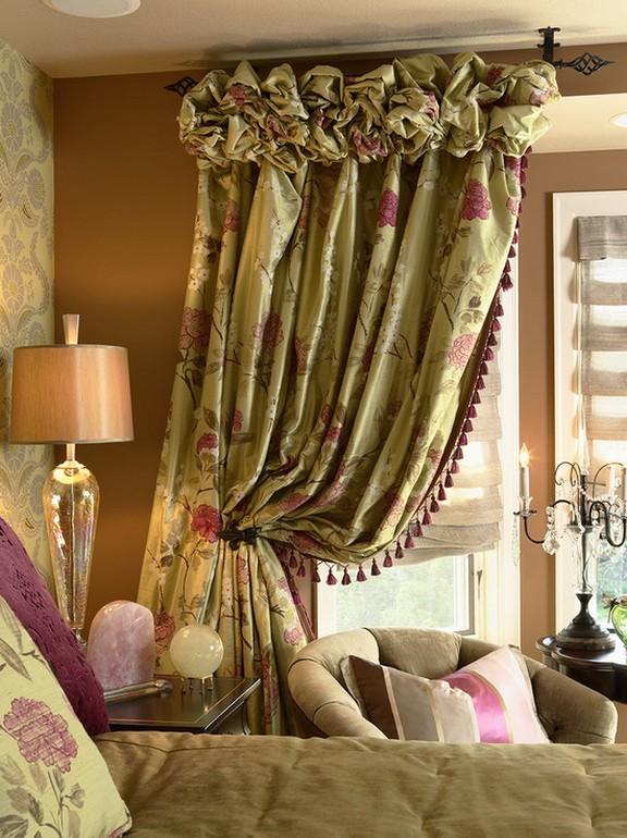 шторы для спальни в кантри стиле