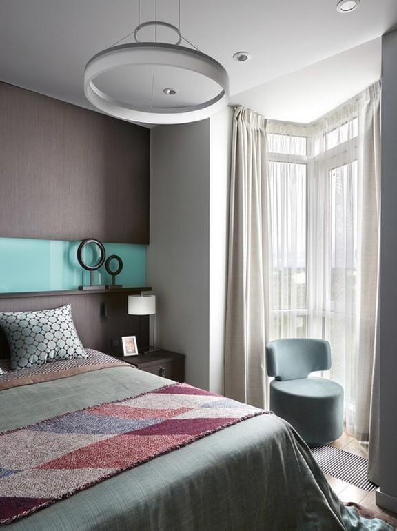 шторы из льна для спальни в современном стиле
