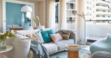 шторы для гостиной в скандинавском стиле