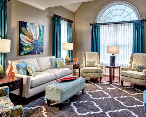 современные классические шторы для гостиной