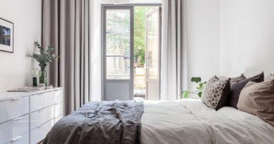 шторы с пальне в скандинавском стиле