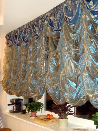 французская штора-тюльтюль из органзы