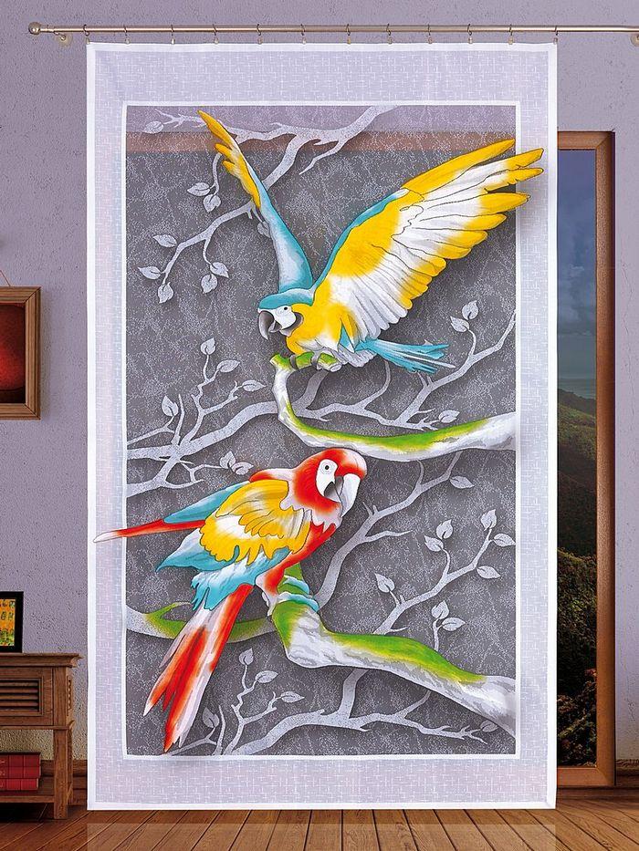 цветной рисунок на гардине-панно