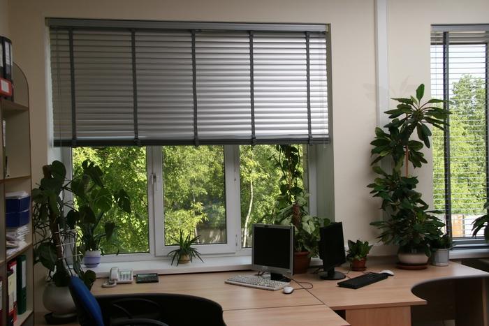 конструкция горизонтальных жалюзи для офиса