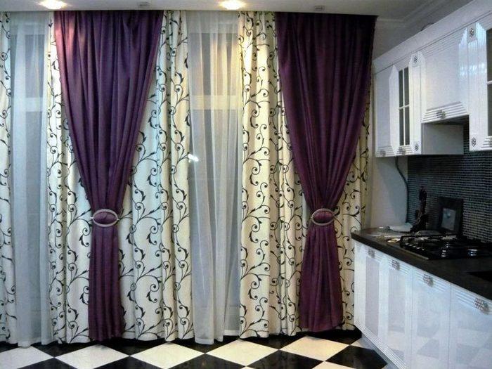 портьеры на кухне