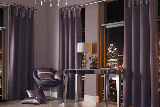 шторы для гостиной в стиле хай тек на 2 окна