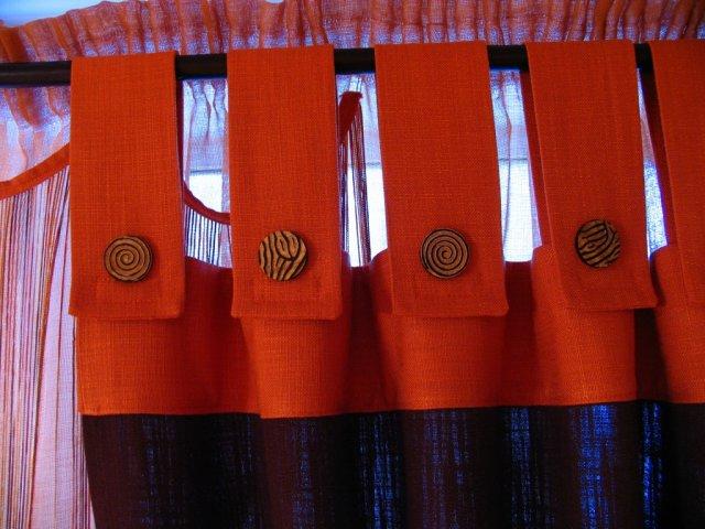 декоративные петли на шторах